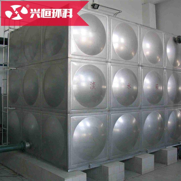 厂家定制消防工程水箱方形耐腐蚀消防304不锈钢水箱