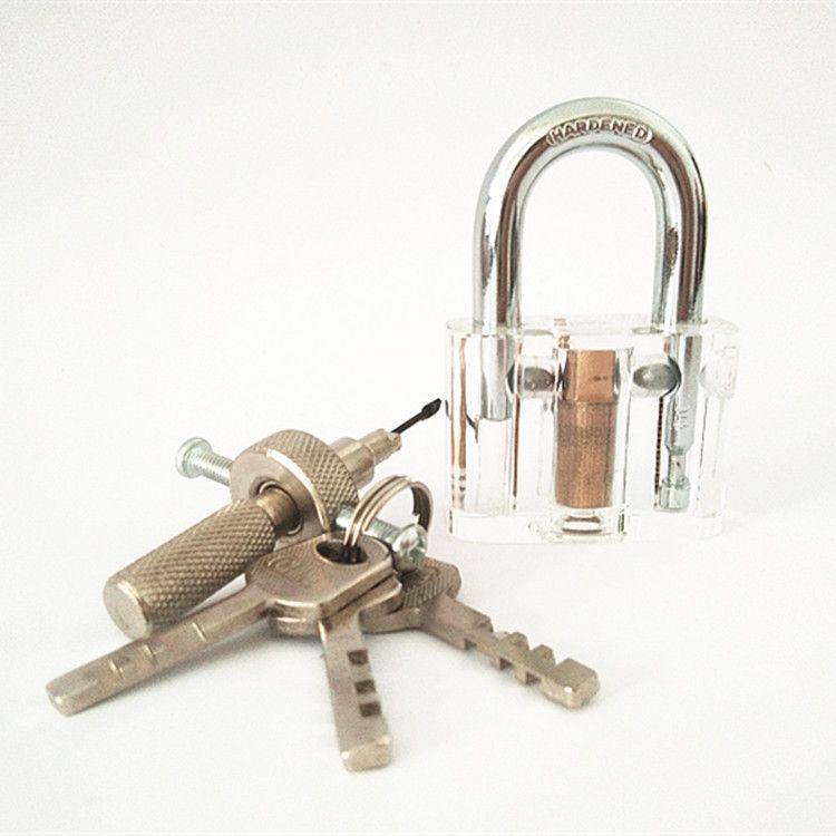 外贸透明叶片挂锁 无簧叶片挂锁 叶片白用具