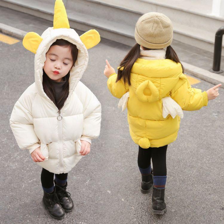 儿童棉衣2018冬季新品韩版女童棉衣男童棉服时尚抖音会动的翅膀