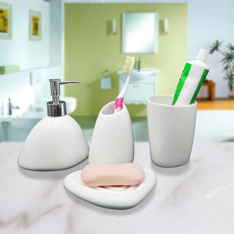 时尚树脂卫浴套装四件套卫浴洗漱用具套装浴室洗漱用品洗手液瓶