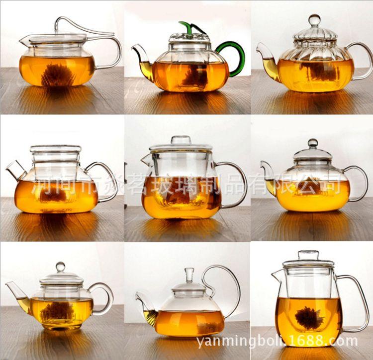 批发玻璃茶壶 耐热玻璃茶具花茶壶泡茶壶 功夫茶壶泡茶器多种款式