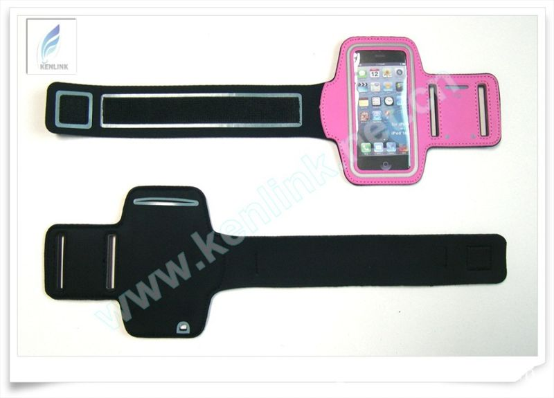 工厂直销-环保潜水料IPHONE5臂带 莱卡潜水料TOUCH5臂带