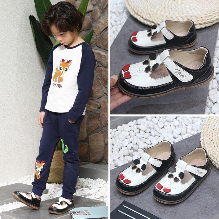 熊猫胖迪男童单鞋2018秋季宝宝软底鞋韩版卡通休闲男童潮鞋