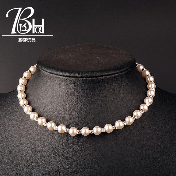 新款印度时尚珍珠项圈女士夸张颈链choker饰品一件代发工厂直销