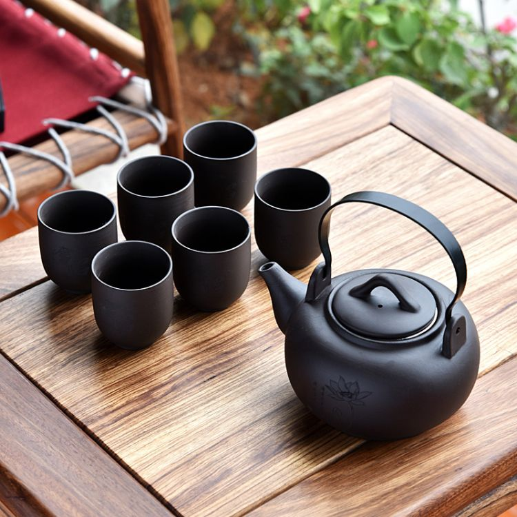紫砂茶具提梁壶紫砂茶具七头紫砂礼盒茶具套装
