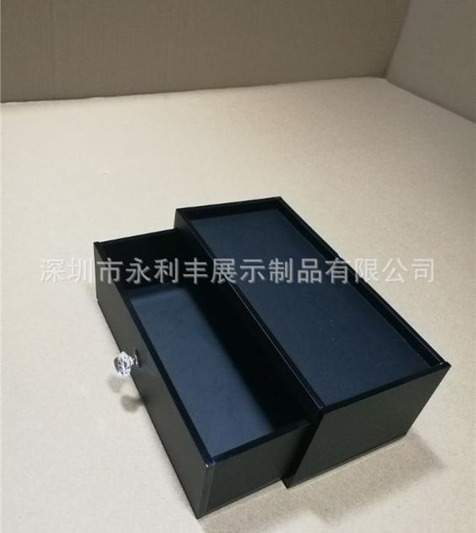 亚克力酒店收纳盒 黑色亚克力盒子 有机玻璃制品定做加工