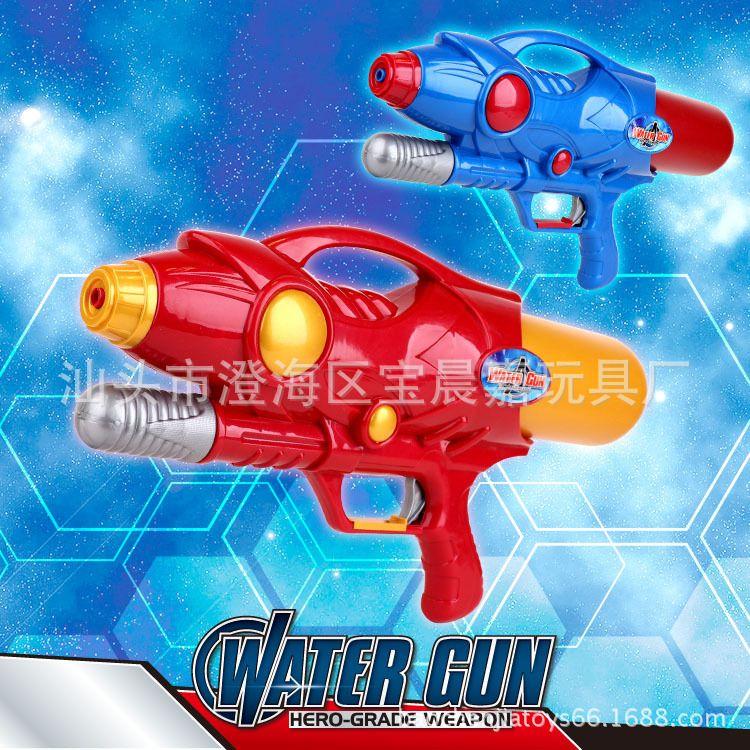 打气漂流水枪厂家批发沙滩儿童气压水枪玩具新款酷炫红蓝太空水枪