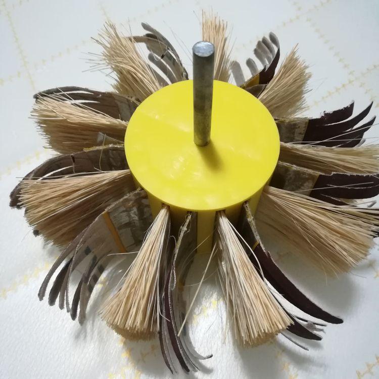 定制供应剑麻砂布轮刷 家具抛光刷 木板修边轮刷