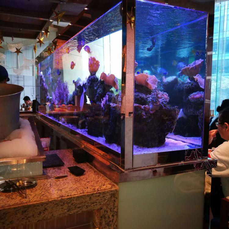 潜凯水族定制大型亚克力鱼缸 半圆型亚克力水族箱 水族工程