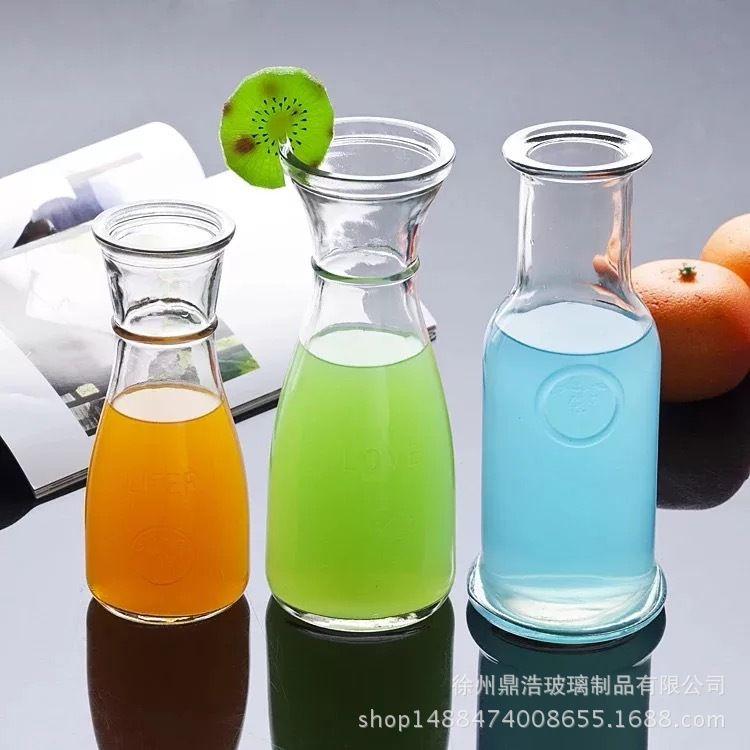 厂家供应500ml冷泡茶瓶官山瓶冰桔茶玻璃瓶饮料玻璃瓶奶茶瓶子