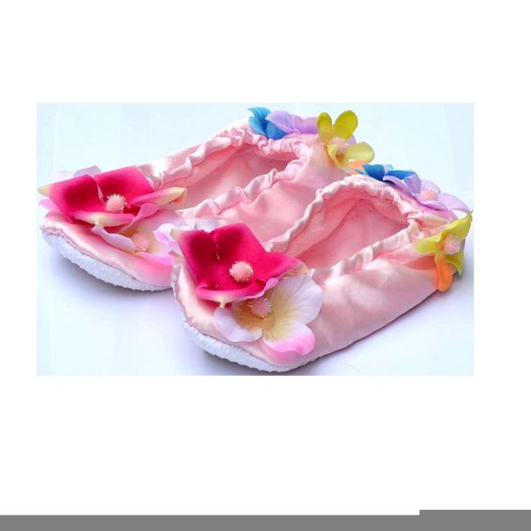 欧美新款儿童芭蕾舞蹈鞋耐磨平底童鞋爆款厂家直销女童软底舞蹈鞋