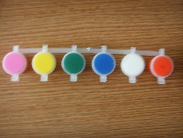 厂家供应3ML6连体水彩颜料、丙烯颜料、美术颜料、水粉颜料