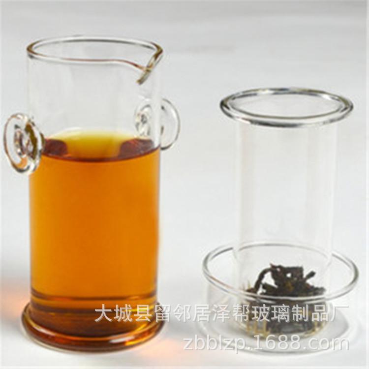 耐热玻璃普洱红茶杯玻璃双耳杯玻璃壶白珠双耳壶三件套