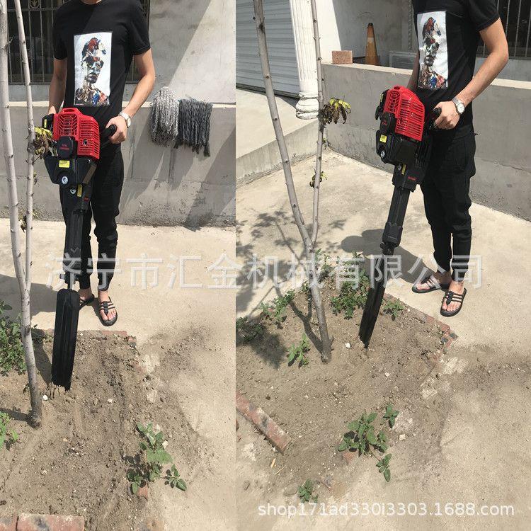杜李树苗断根起球机 北京庭院树苗移植断根机 梯田小块地移树机