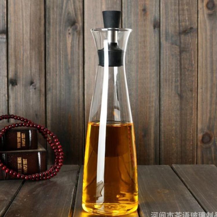 可定LOGO玻璃油壶香油瓶醋瓶厨房用品 玻璃防漏控油壶酱油瓶500ml