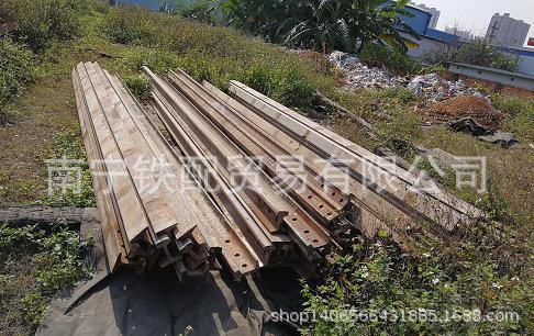 43kg P43再用钢轨 旧钢轨6.25米长广西南宁特价销售