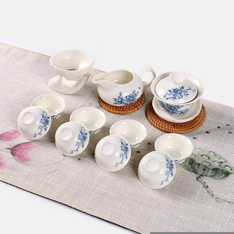 茶具功夫茶具德化茶具logo定制套装茶具功夫茶具套装12头功夫茶具