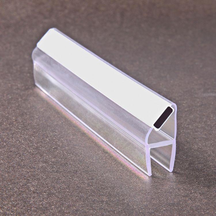 PC新型材料 淋浴房玻璃门塑料密封条 强磁吸力挡水磁条