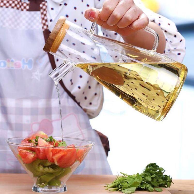 批发日式加厚家用玻璃油壶厨房防漏油瓶酱油调味瓶油罐醋瓶香油瓶