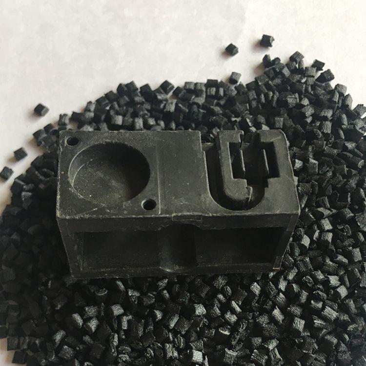 特种工程料黑色pps r7塑料耐高温高强度注塑烤箱元件塑胶颗粒原料
