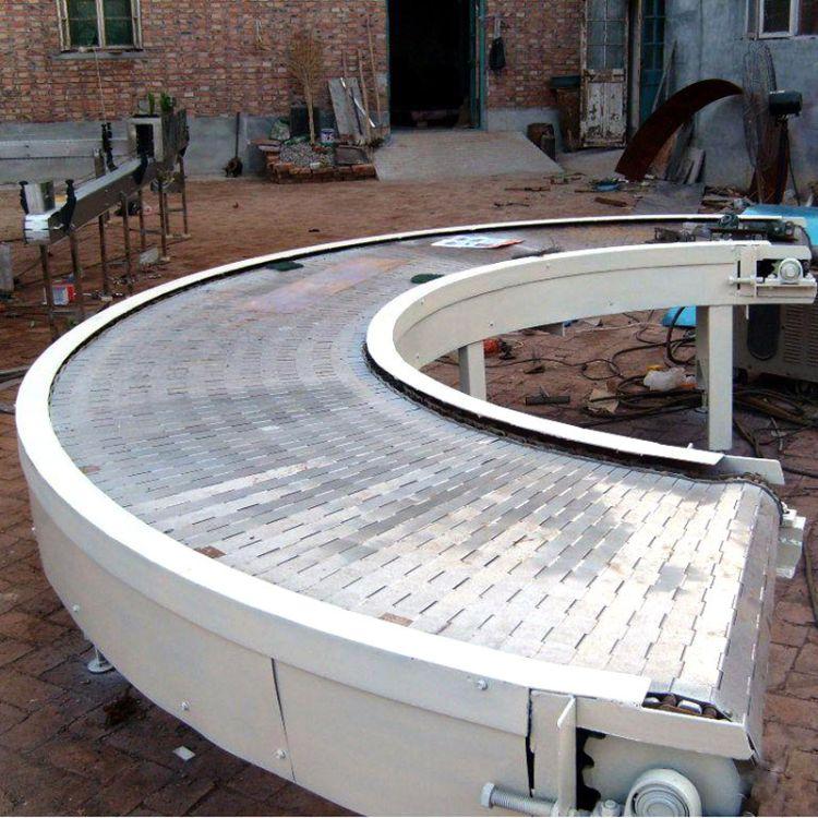 供应链板输送机机械设备转弯输送机 不锈钢链板输送机械加工定制