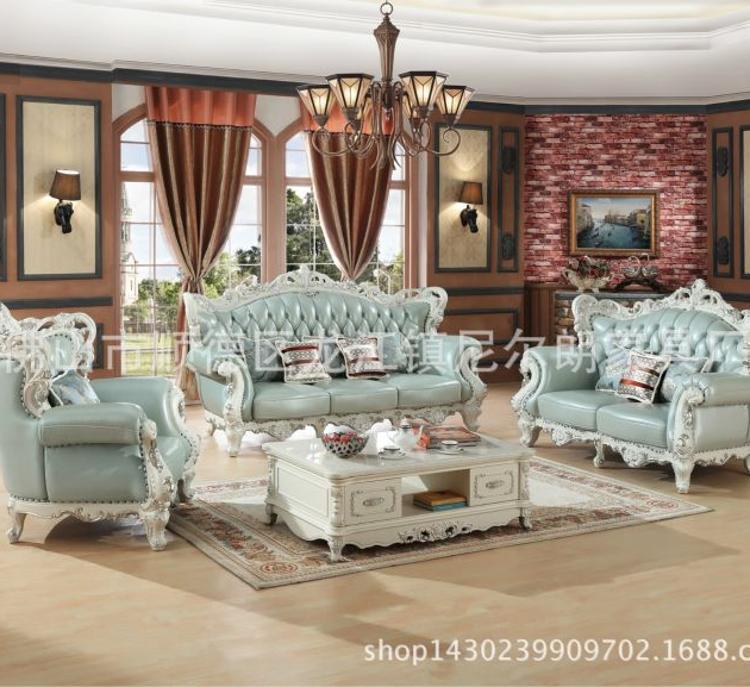 美式小户型实木沙发 仿古811#实木茶几沙发 折叠靠背实木沙发