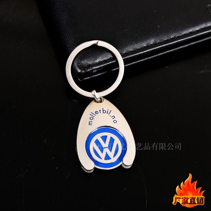 创意金属代币钥匙扣配件锌合金代币钥匙扣金属不锈钢工艺品可定做