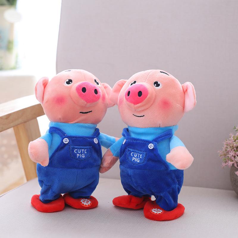 会说话的海草猪电动毛绒玩具儿童益智早教公仔唱歌跳舞录音猪