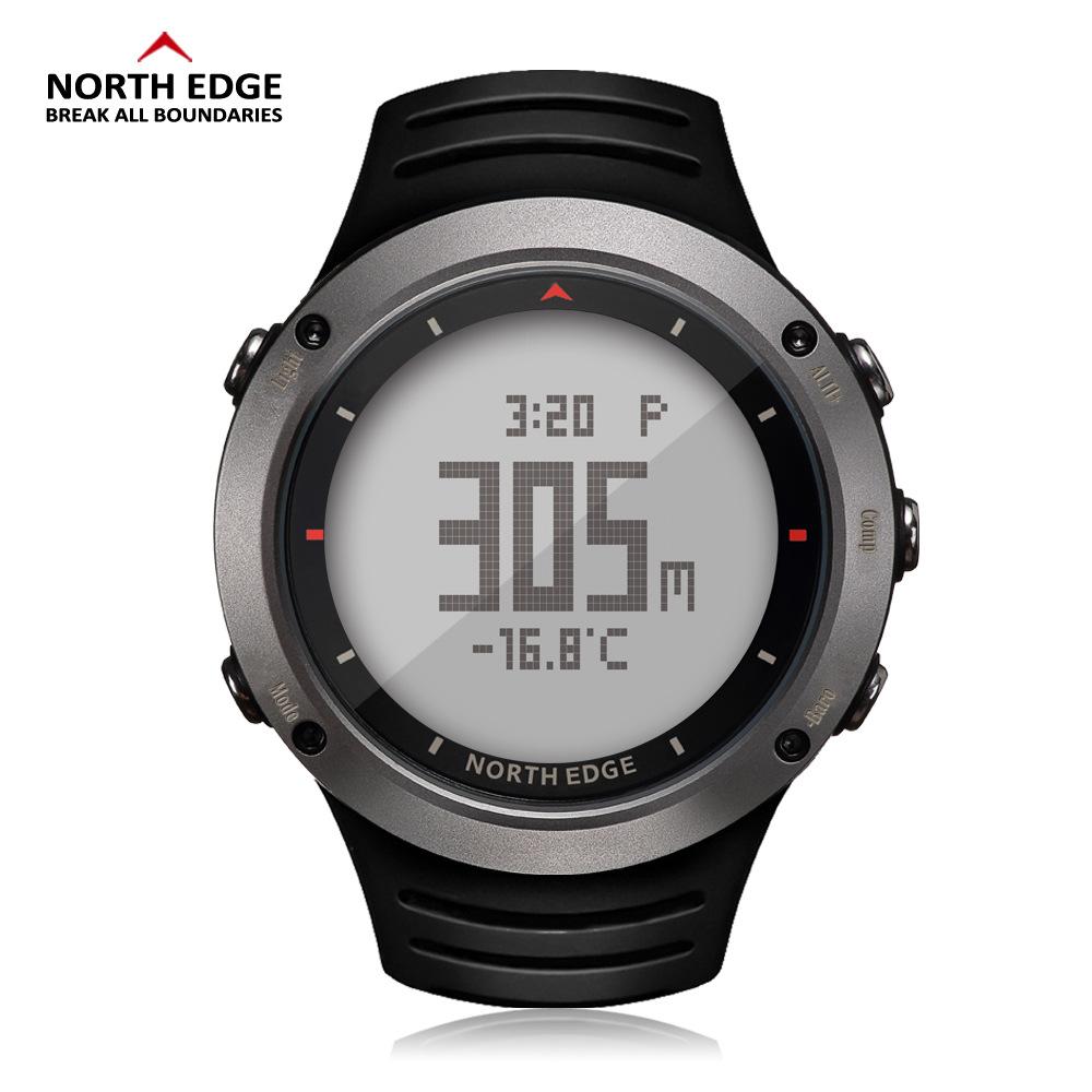 淘货源户外登山运动手表NORTH EDGE高度气压夜光防水多功能军表錶