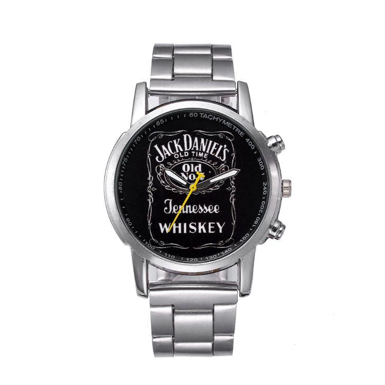 wish新爆款Jack Daniels Whiskey marlboro男士人石英手表 鋼帶表