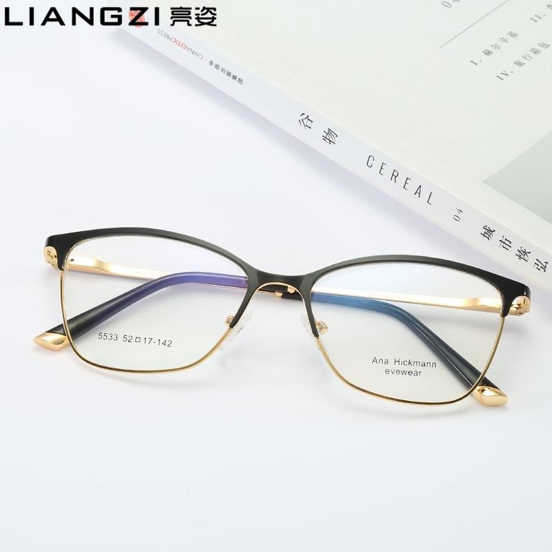 新产品全框金属眼镜架护目镜防蓝光眼镜复古平光框架眼镜男女通用