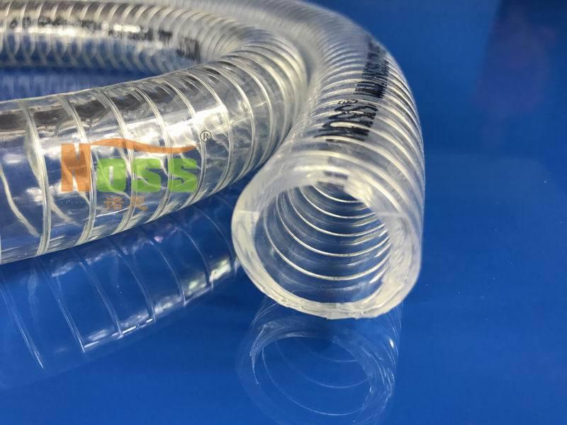 pvc透明钢丝软管 耐腐蚀酸碱PVC软管 耐有机溶剂塑料软管带钢丝