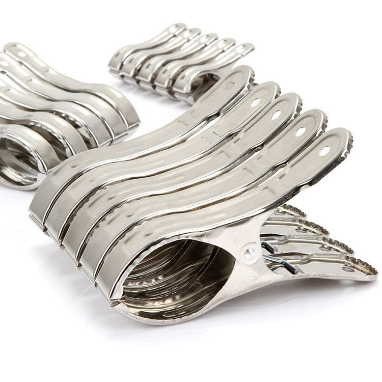 乔兴?厂家直销不锈钢被夹特大号中晒衣夹 带磁开口夹夹子批发12cm