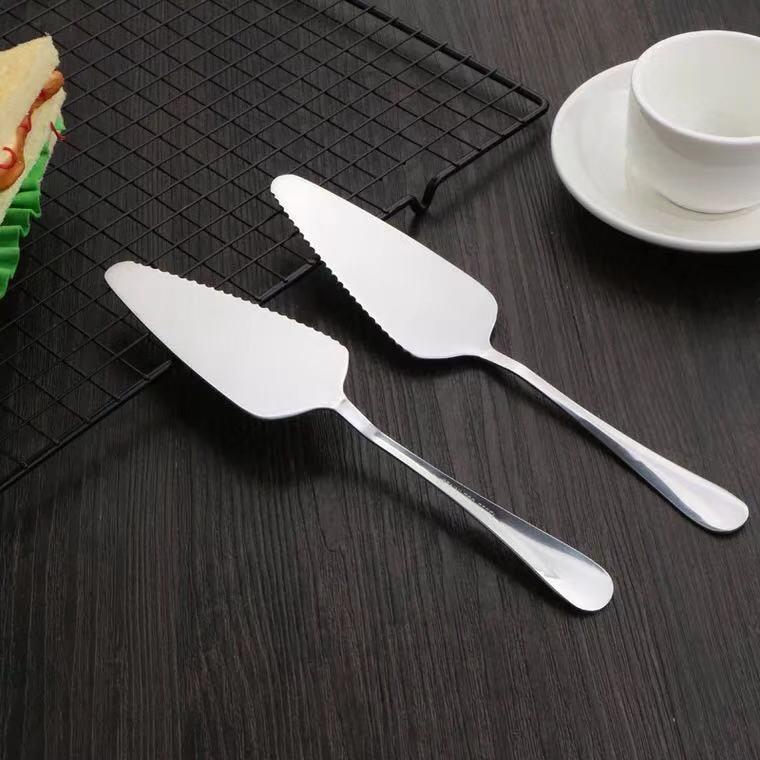 不锈钢带齿蛋糕铲 三角铲 披萨铲 三角勺 芝士铲烘焙用具