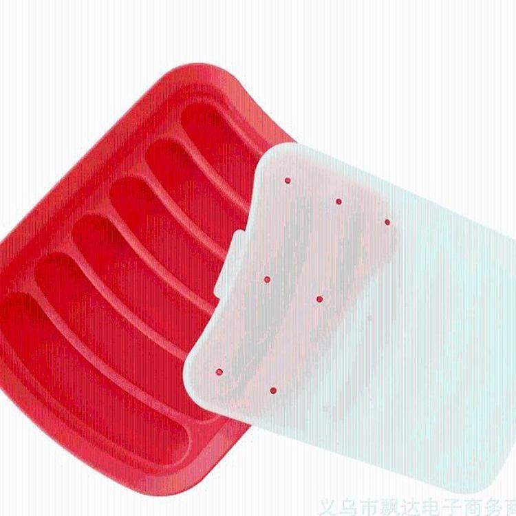 硅胶烘焙模具 DIY烤火腿肠 热狗 香肠架模具 硅胶香肠模 厂家直销