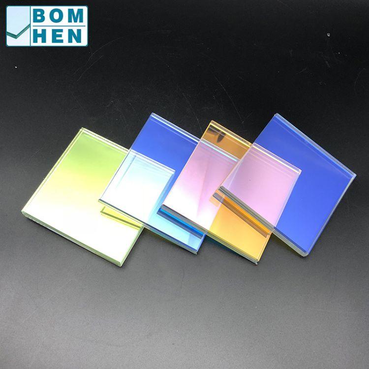 宝恒板块定制生产炫彩玻璃 5+5mm七色3d效果 幕墙隔断商场应用