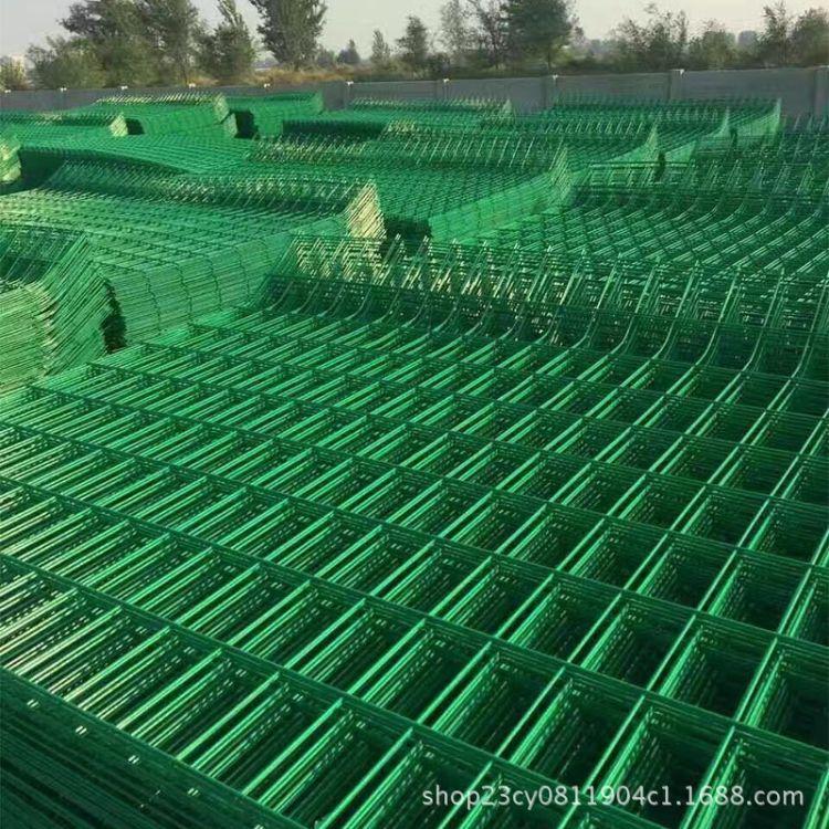 厂家直销铁丝网围栏双边丝护栏网高速公路护栏土地围栏网可定制