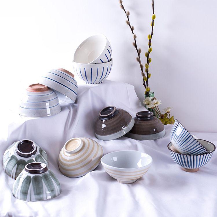 厂家供应各种陶瓷碗定制广告碗创意日式系列餐具套装手绘碗陶瓷杯