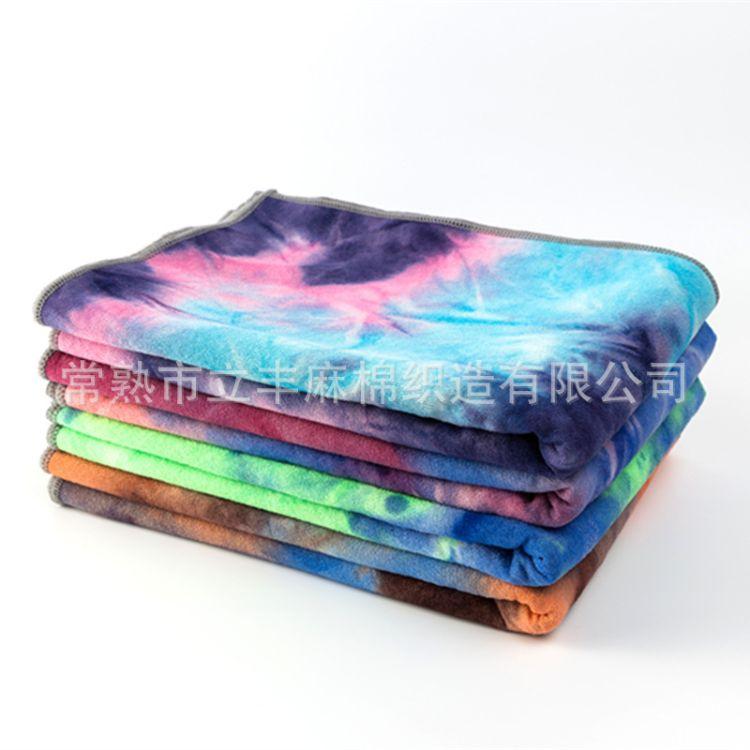 亚马逊硅胶瑜伽巾外贸瑜伽铺巾新款扎染硅胶瑜伽垫印度瑜伽垫