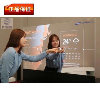 上海新品显示器55寸OLED透明液晶显示屏、透明液晶屏展示柜显示器
