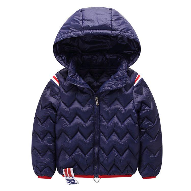 儿童羽绒棉服轻薄款保暖可脱卸连帽男女中大小童装羽绒服保暖外套