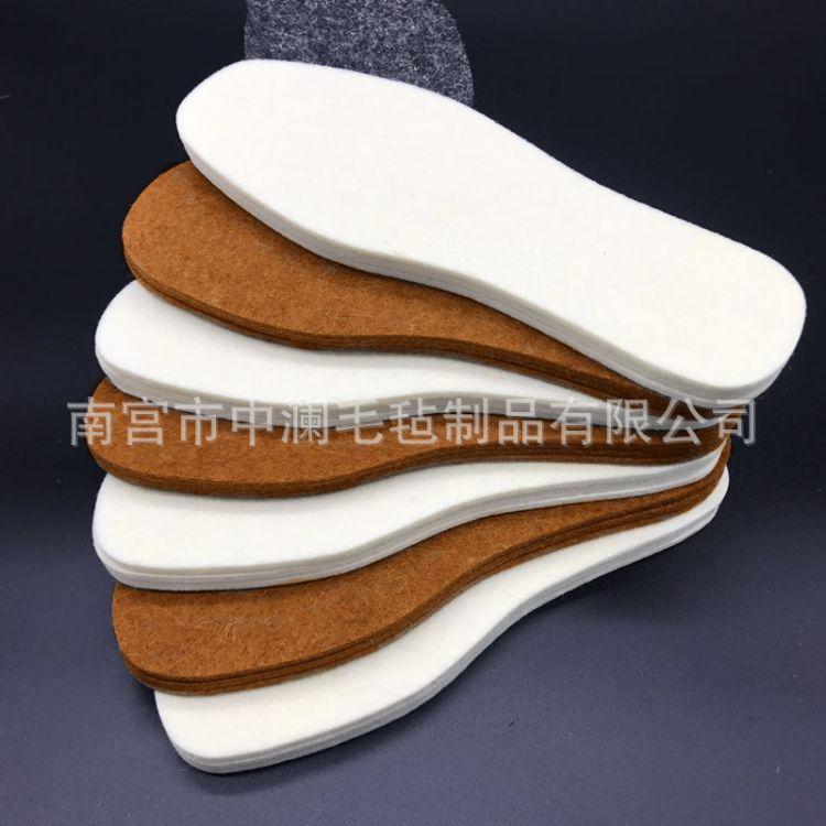 4mm羊毛毡鞋垫批发保暖吸汗防潮除臭 内蒙古跑江湖摆地摊集市鞋垫