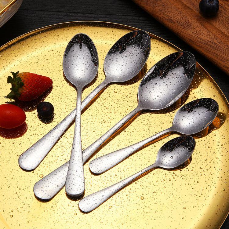 1010尖勺 不锈钢餐具 勺子 汤勺调更调羹儿童咖啡勺赠品 定制logo
