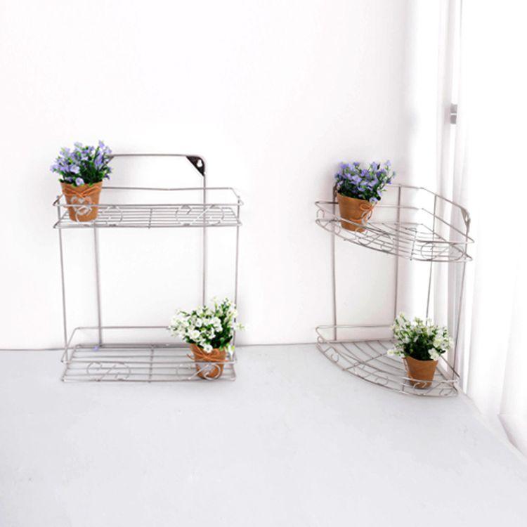 优质不锈钢三角架 不锈钢方形置物架 2层3层浴室厨房置物架批发