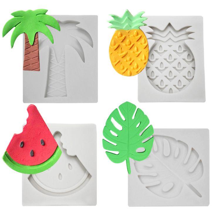 热带水果系列翻糖蛋糕硅胶模具DIY蛋糕装饰烘焙用具巧克力模