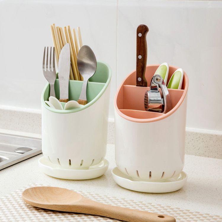 2017新款家居用品筷子架 沥水厨房置物架 塑料落地多功能收纳架