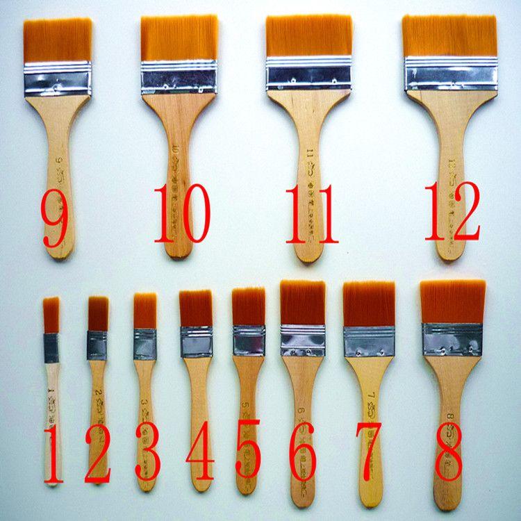 [创艺]1-12号尼龙板刷 烧烤刷子 猪鬃板刷 尼龙毛刷 油画刷