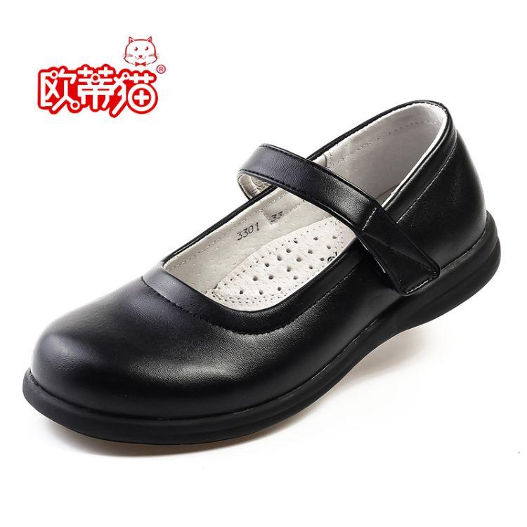 女童皮鞋黑色学生儿童表演鞋舞台演出诗歌合唱团体统一着装女皮鞋