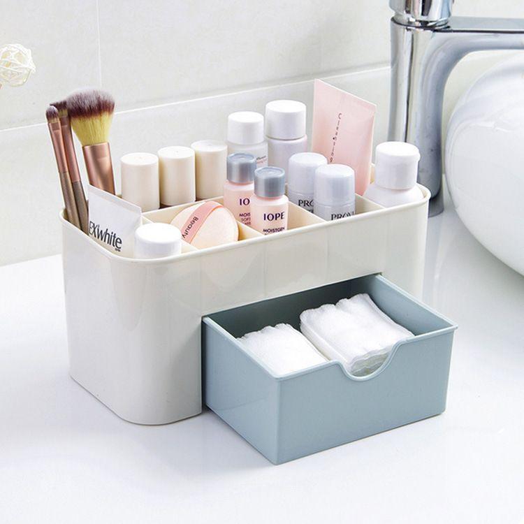 化妝品收納盒家居用品桌面首飾塑料儲物口紅生活創意外貿抽屜式