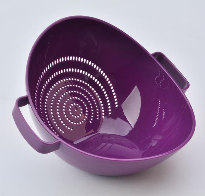 厂家水果蔬菜洗菜篮圆形漏空沥水篮塑料厨房用品批发定制
